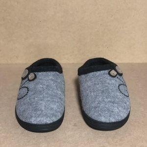 Acorn Women's Dara Slipper, Light Grey Button, 8-9